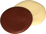 Wafer-thin Milk or White Discs